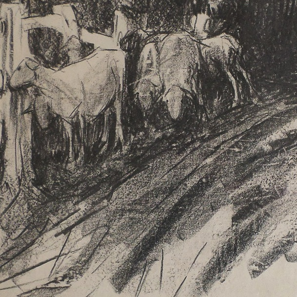 Litho - Strayed Sheep