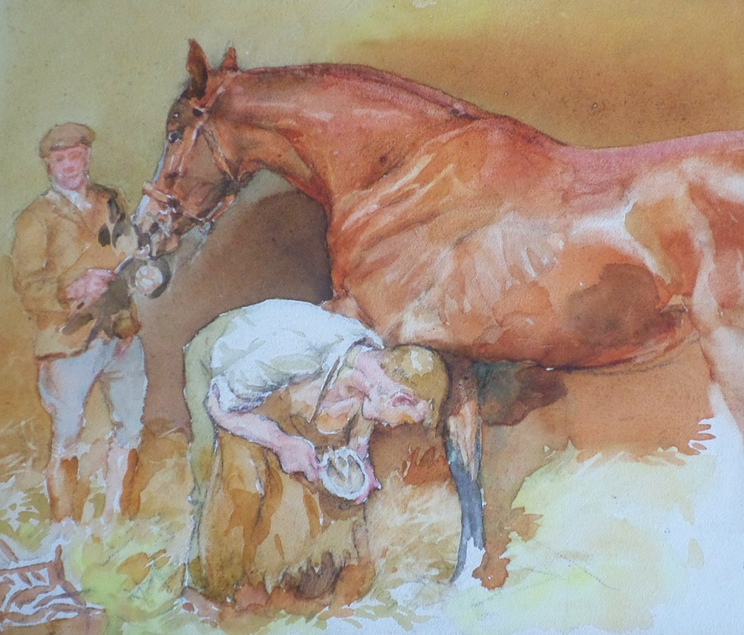 Lucy Kemp Welch watercolour for sale
