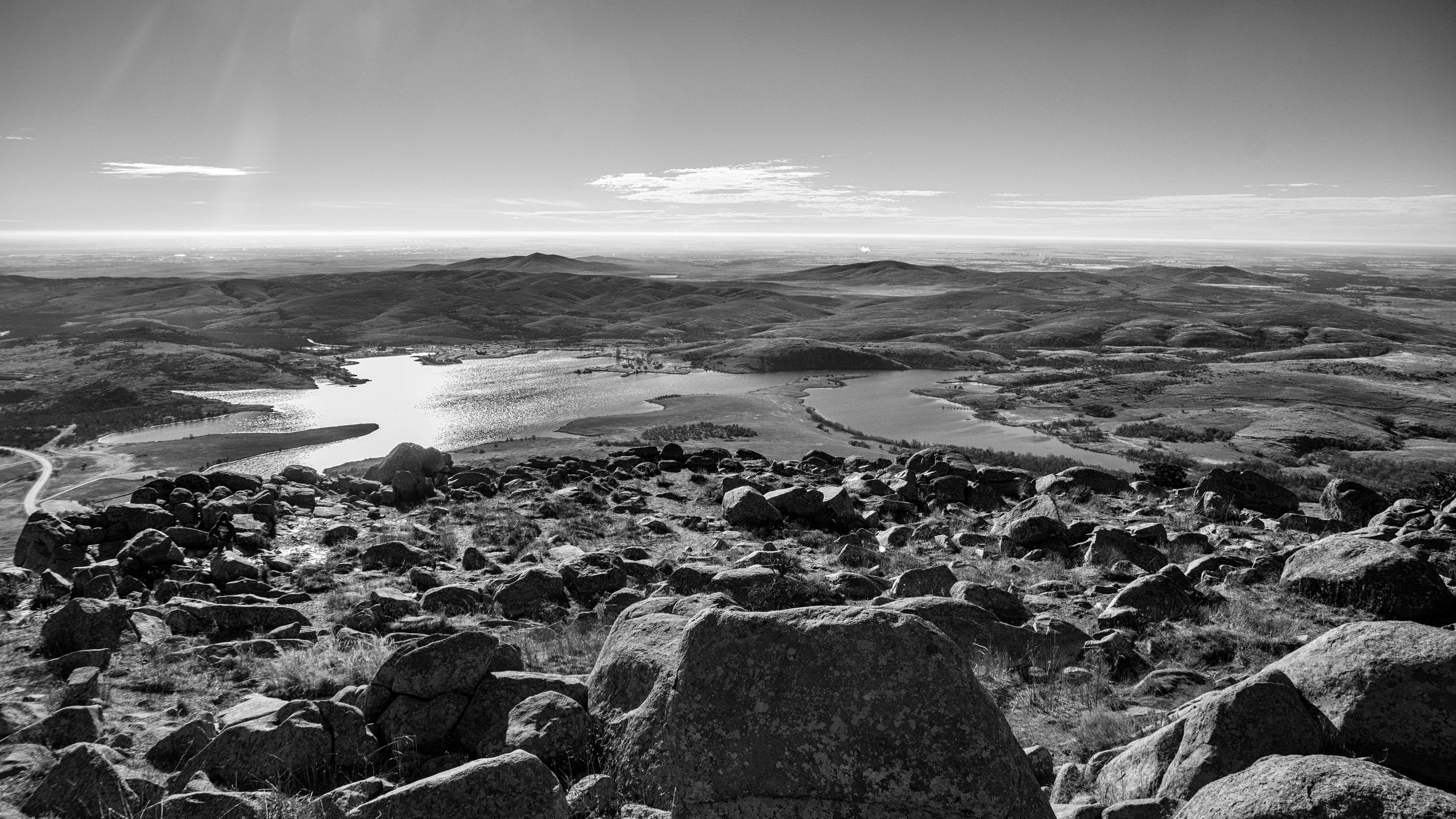 Mount Scott- view from top- black and white- image by betchel-photography.com
