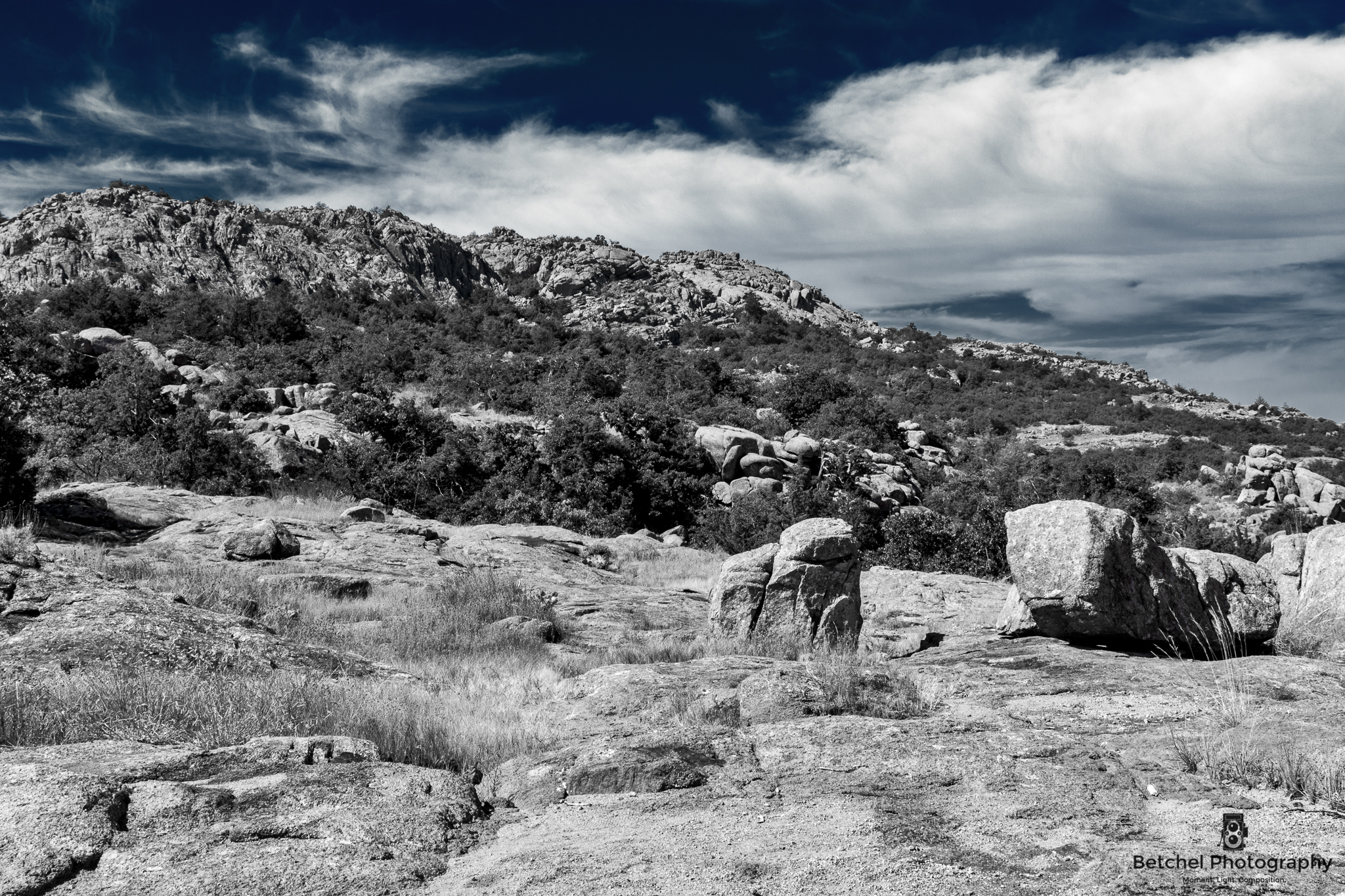 Elk Mountain - Wichita Mountains Wildlife Refuge. Image by Betchel Photography of Edmond.