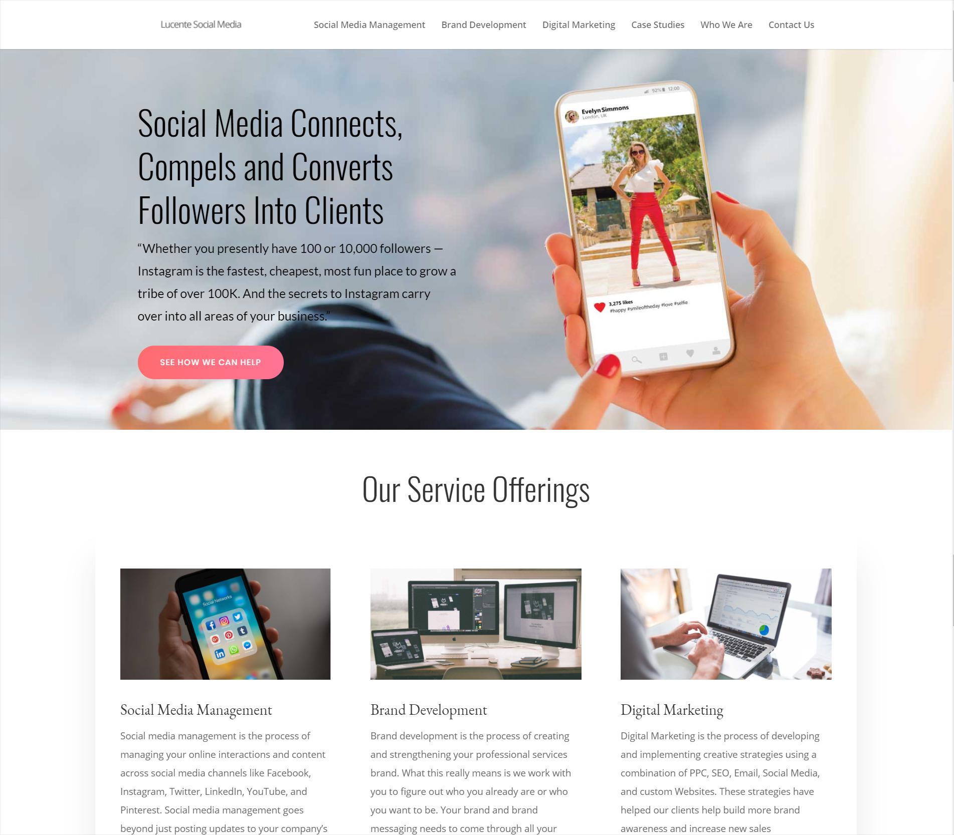 Lucente Social Media