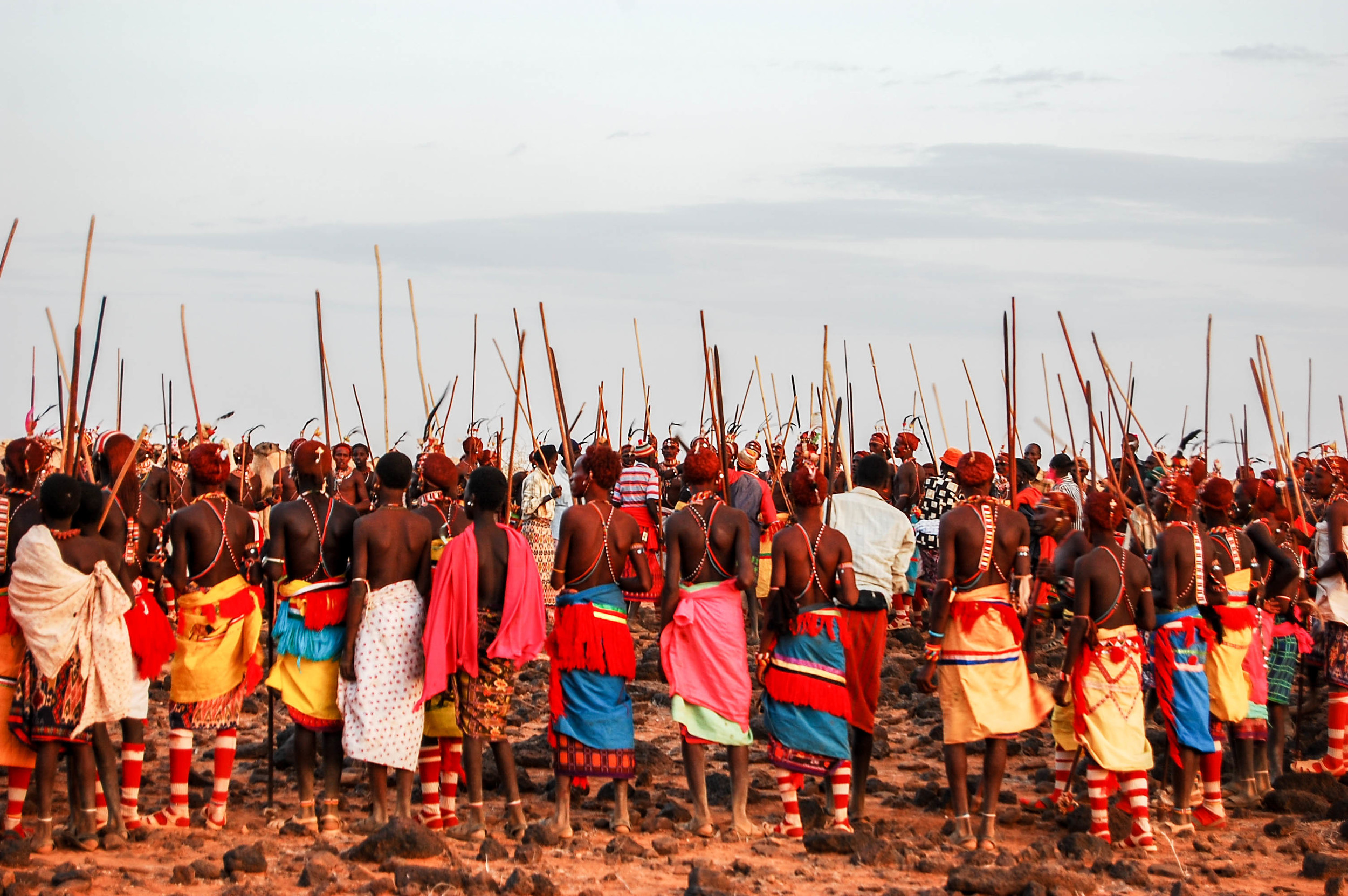 Warriors at a special age-set ceremony.jpg