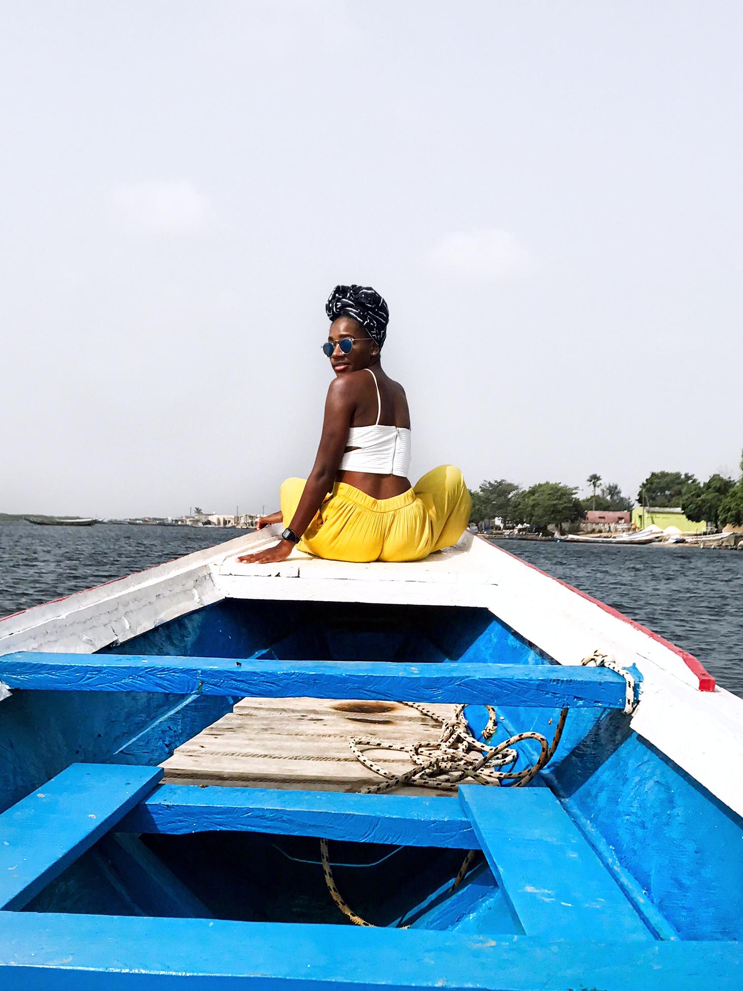 Jakiya on blue boat.JPG