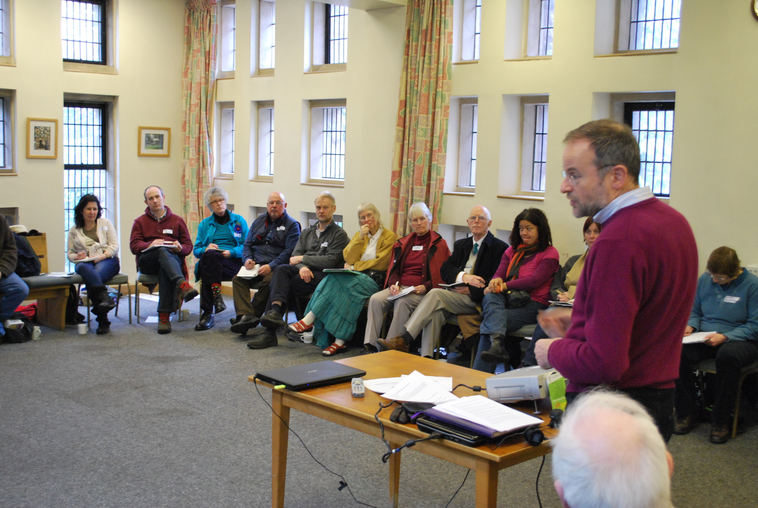 Paul Blomfield MP talking about effective ways of lobbying your MP at our recent Climate Ambassador training day in Sheffield.
