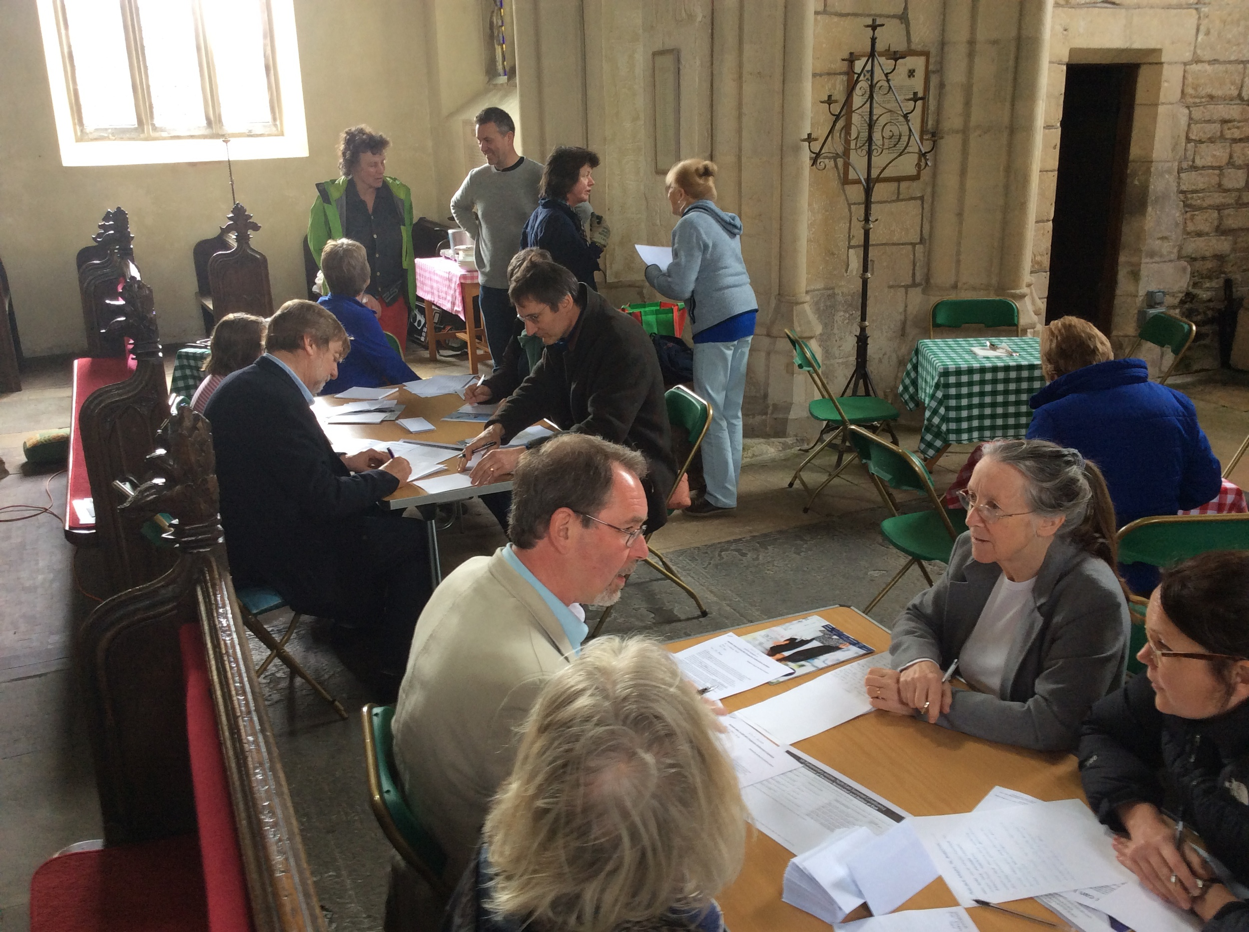 A recent Climate Write-In held at a supporting church in Gloucestershire.