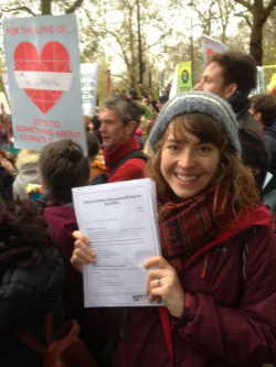 Jo at the London Climate Lobby last December.
