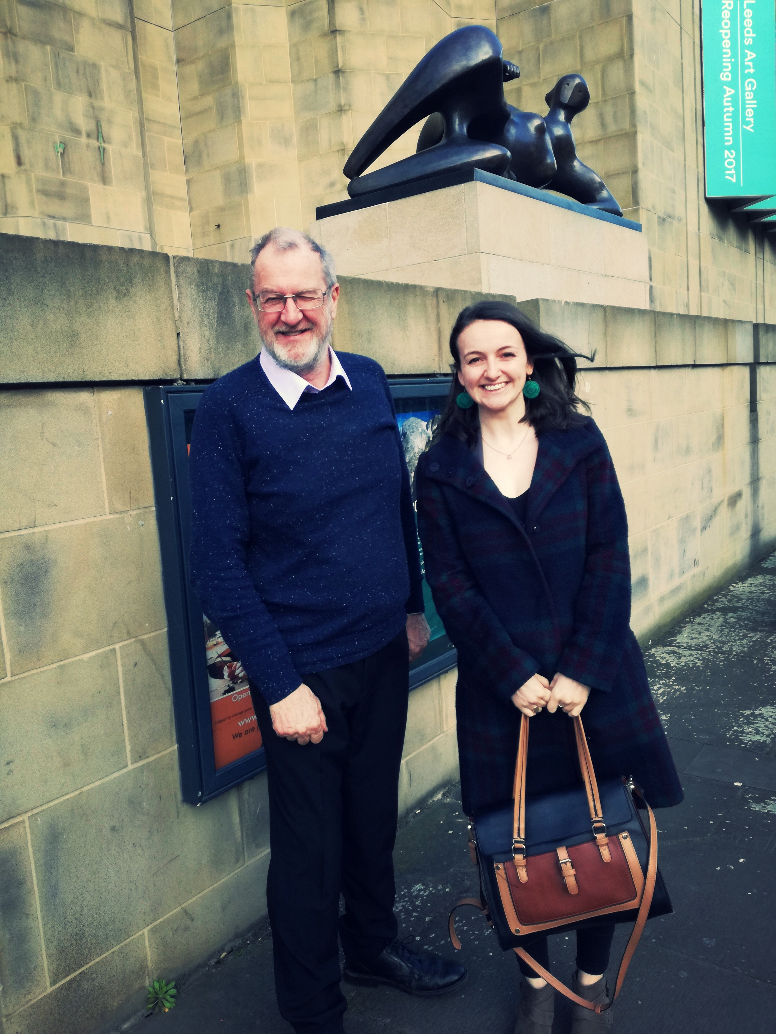 Former Leeds MP, John Battle, with Sarah from Hope for the Future Assistant Director.