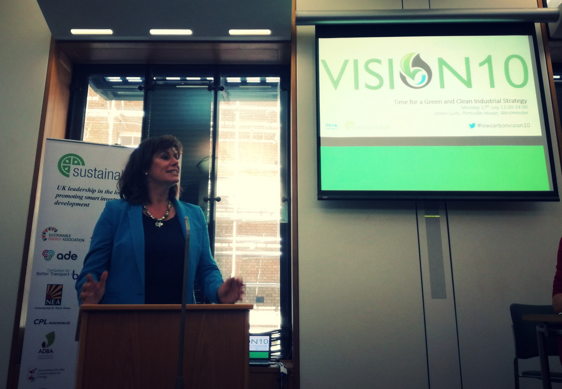 Hope for the Future saw Claire Perry MP, Minister for Climate Change and Industry, give a talk at the launch of Vision10.