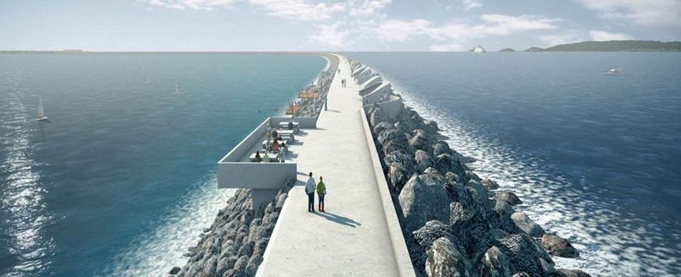 An artists impression of Swansea Bay Tidal Lagoon- Image Source:  Tidal Lagoon Power