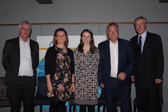 From left, Professor David Manning, Emma Bridge, Sarah Robinson, Nick Brown MP and Roger Middleton.