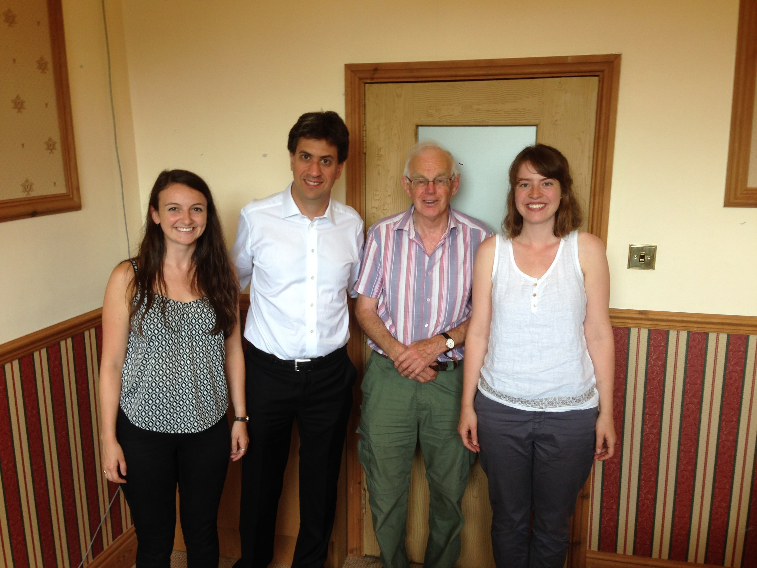 Some of the HFTF team meeting with Ed Miliband MP