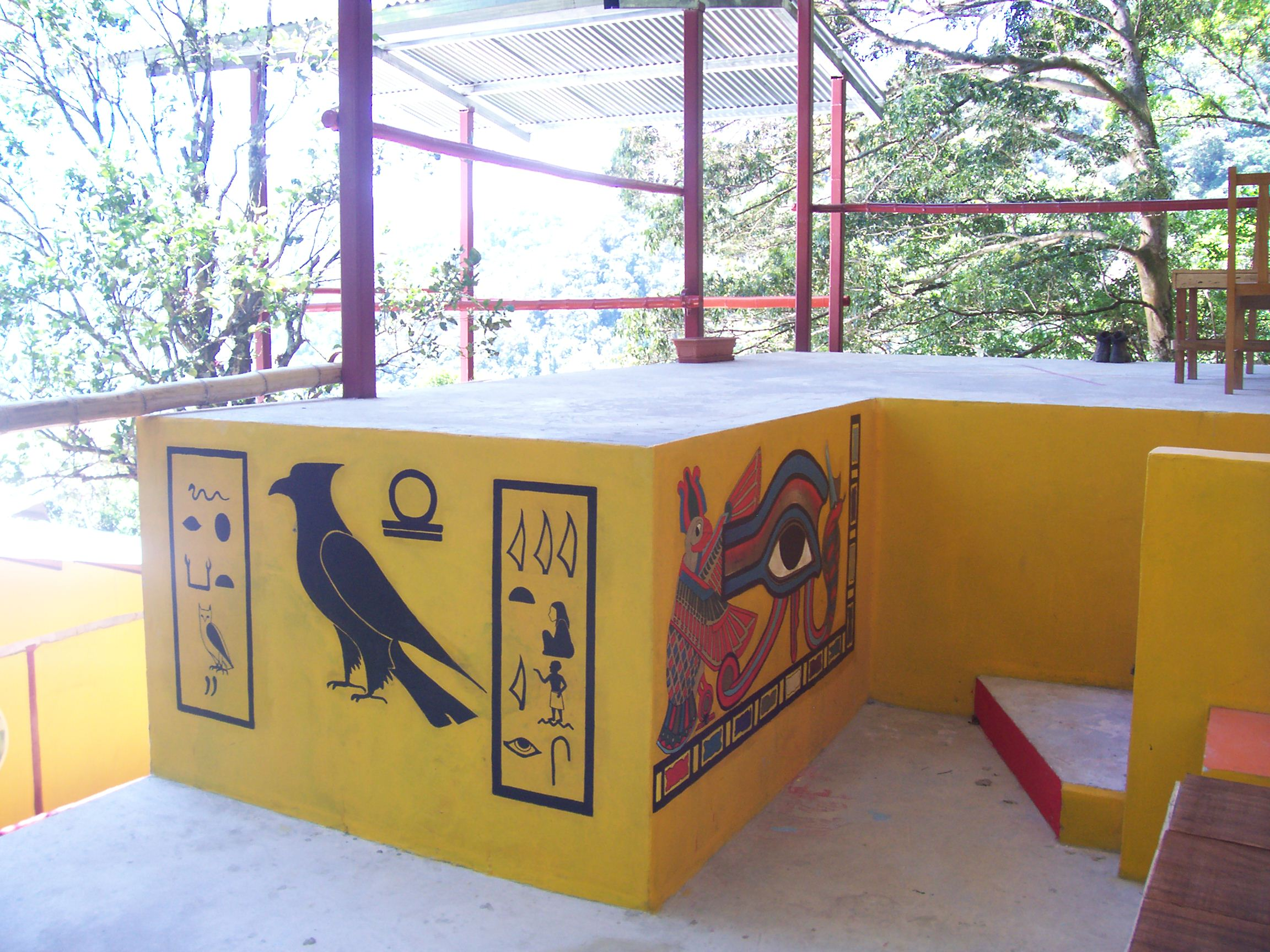 Horus, Eye of Isis, Sarcophagus painted by Maria at The Lost and Found