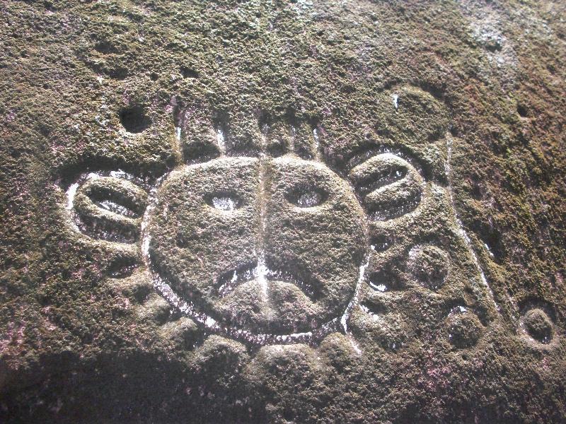 Ancient Rock Carving of Sun God