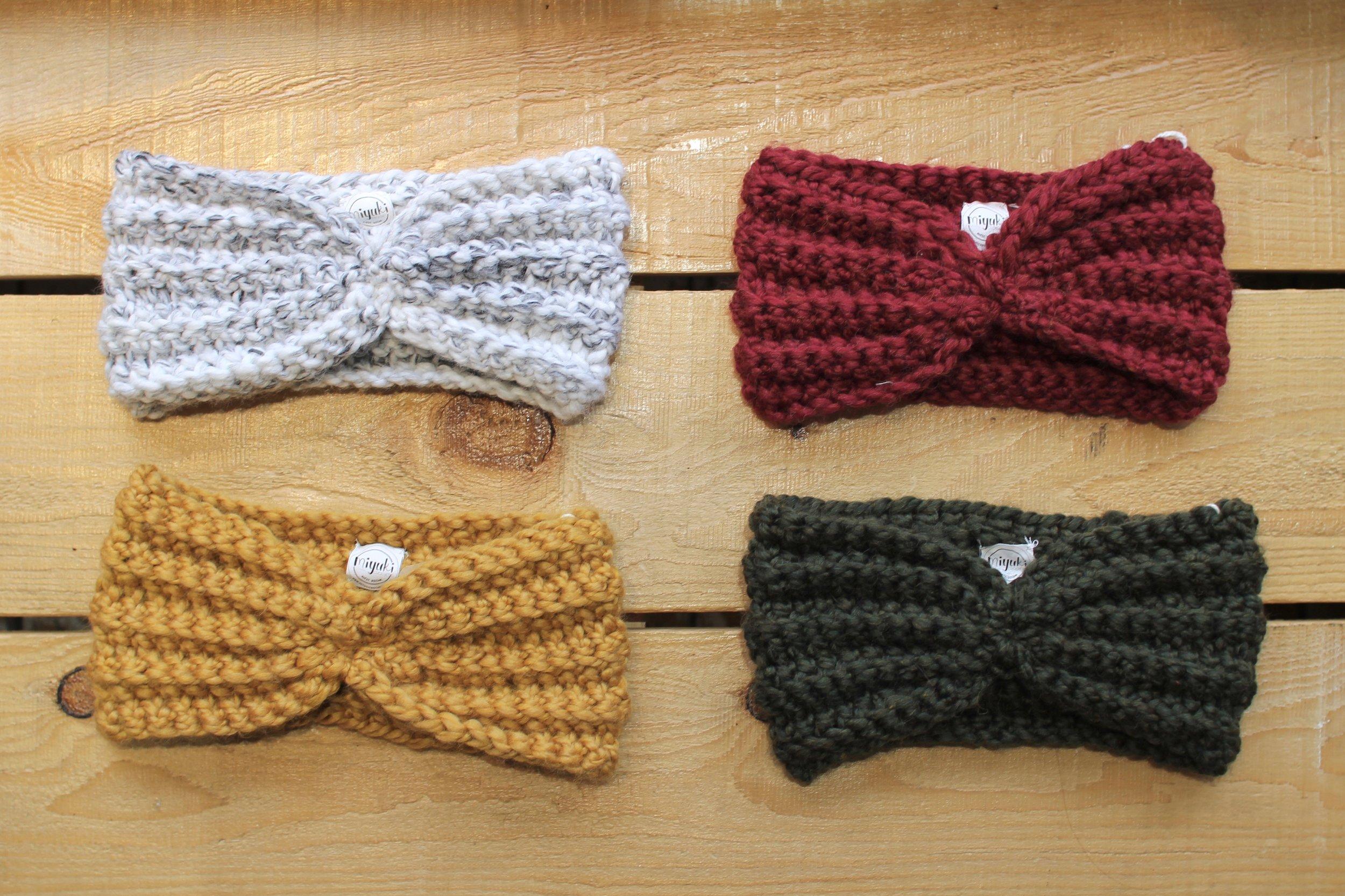 Handmade wool headbands