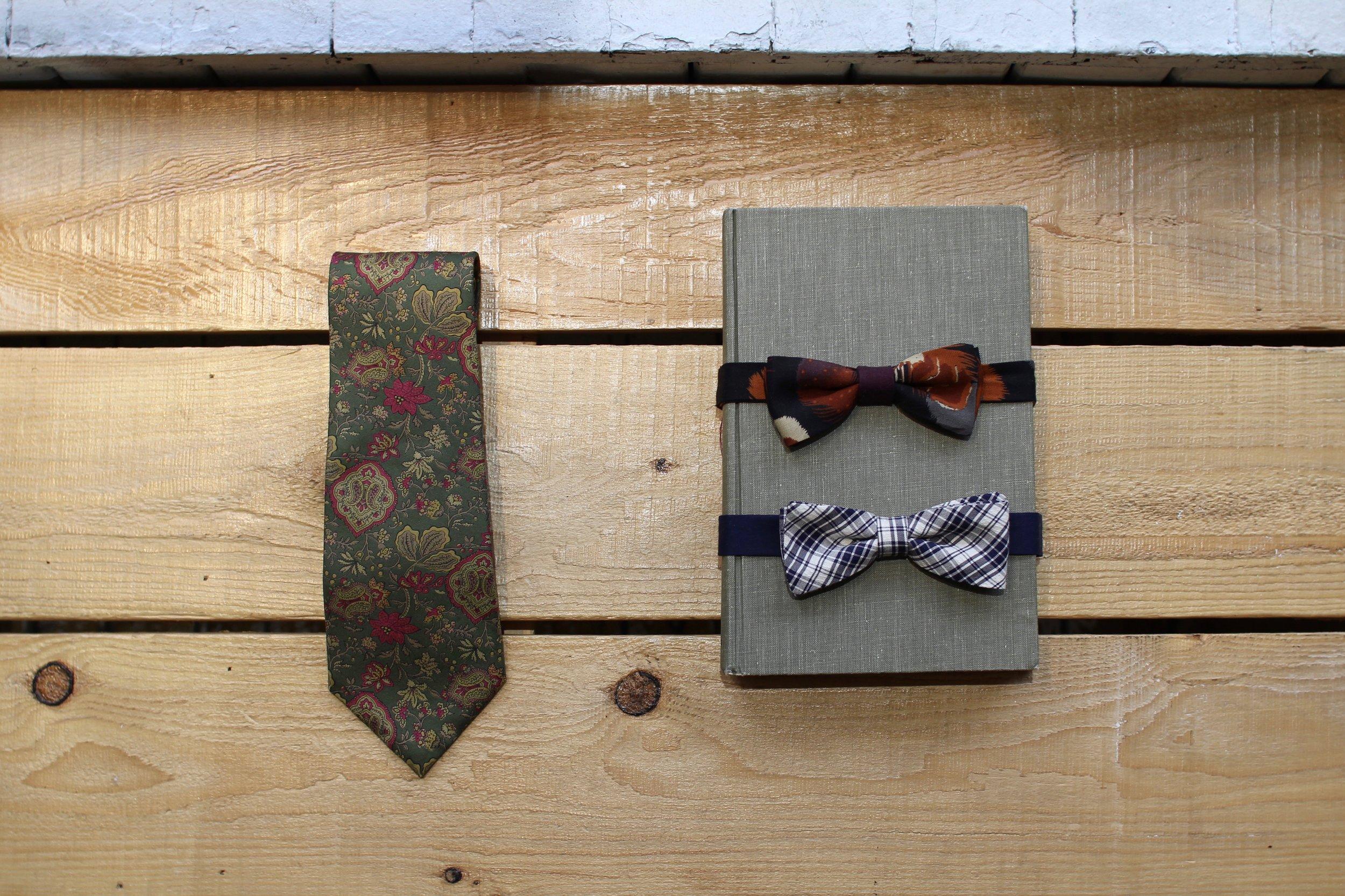 Vintage Ties and Handmade Bowties
