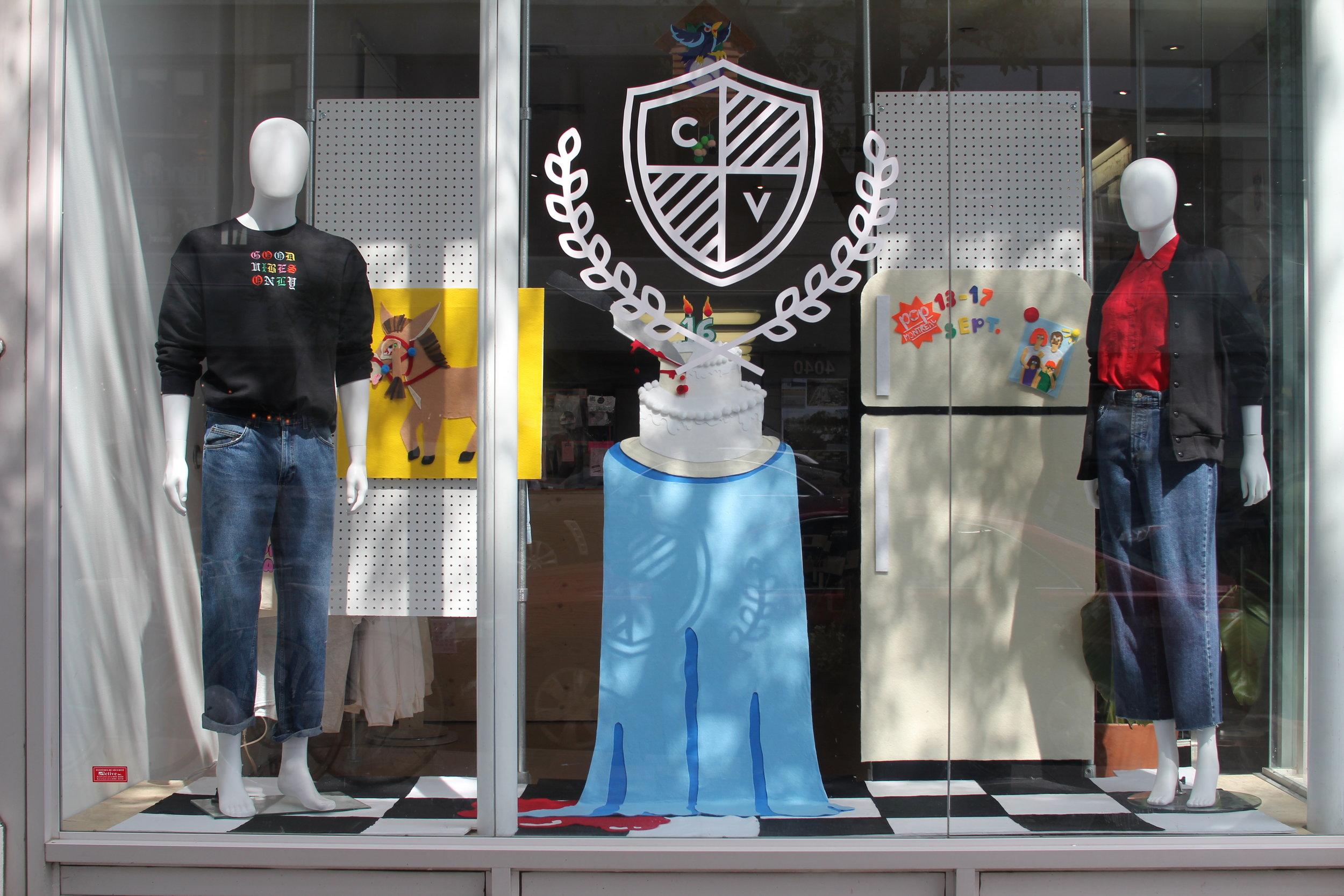 De L'Ile X POP Montreal - Installation at our Plateau shop!