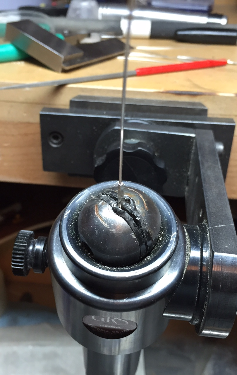 20 gauge wire inserted into the post