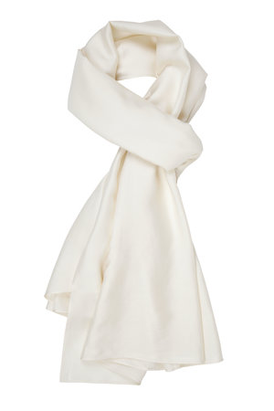 The Ethical Silk Co - Ivory Mulberry Silk Scarf - Plain.jpg
