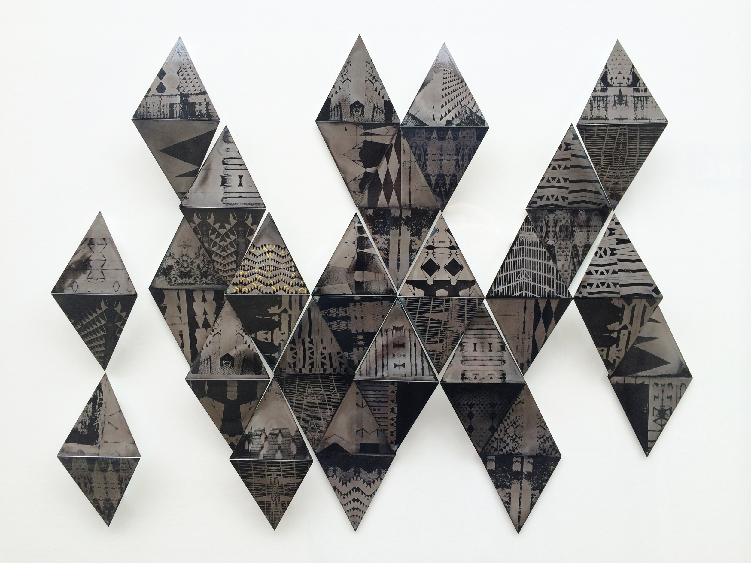 """Abundant Life"" ferrotype mosaic assemblage. MANUS portfolio. Amy Rockett-Todd 2014."