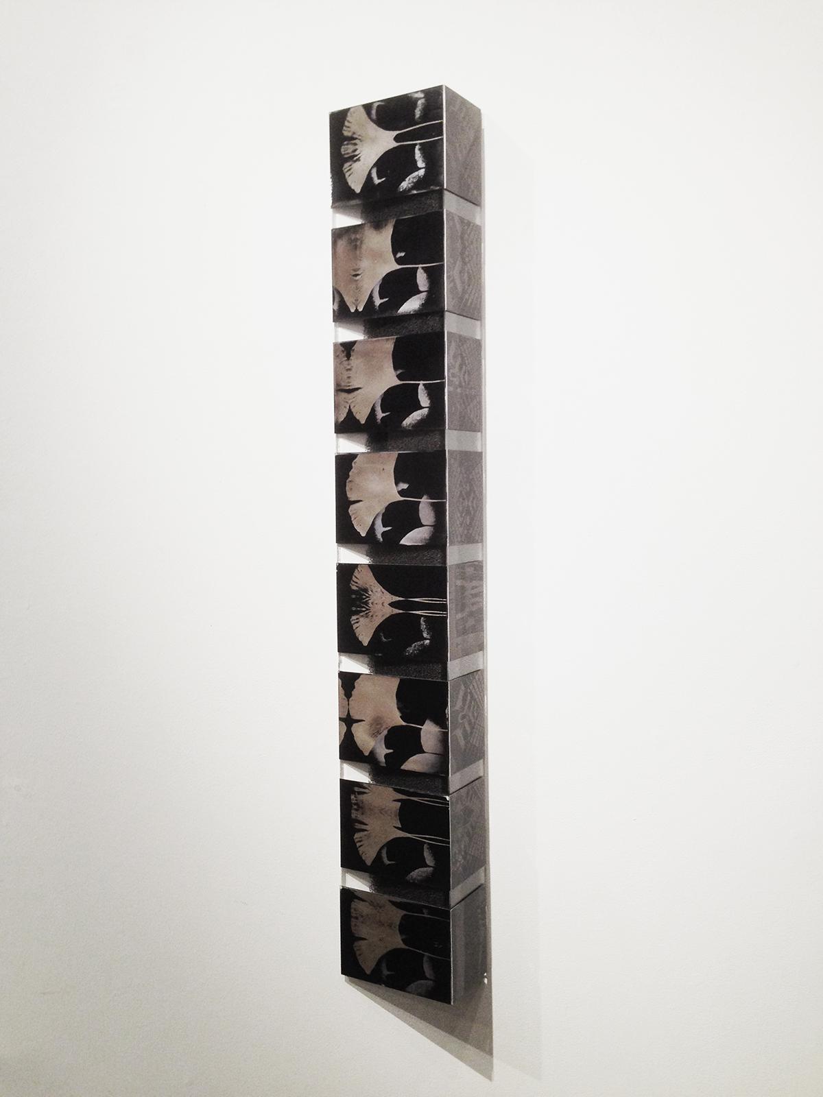 """Tower"" ferrotype mosaic assemblage. MANUS portfolio. Amy Rockett-Todd 2014."