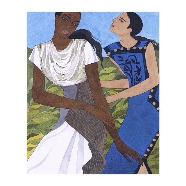 I really love the way @kellymariebeeman displays women in her paintings💕 strong, femine & fashionable!  #denizterli #inspiration #womeninart #femaleempowerment #girlboss #paintings #fashion
