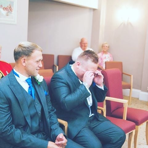 Martin looking a little emotional awaiting his bride 😁 #marriage #marriagegoals #wedding #weddingphotographer #happy #emotional