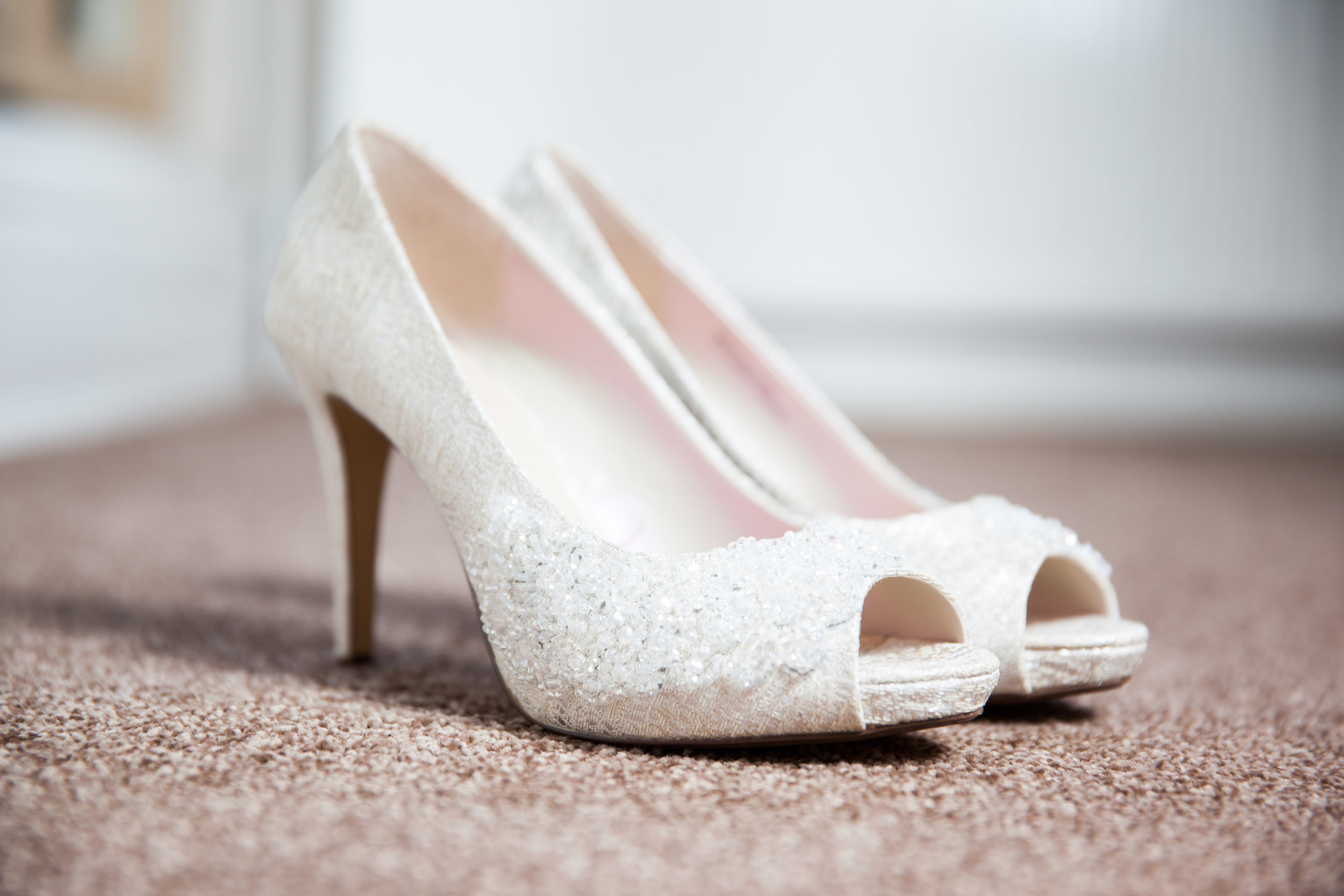 The bridal shoes: Will you wear white heels for your wedding day?