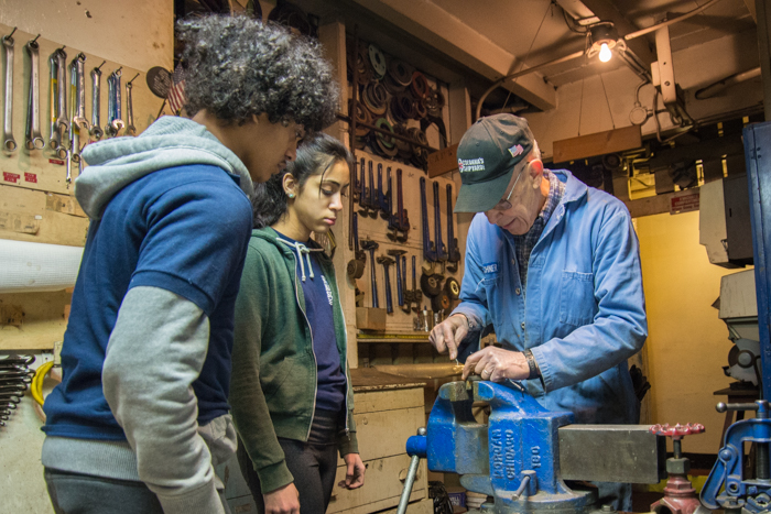 JWB Volunteer Mike taught a number of students how to maintain valves. Students were tasked with finding fire stations throughout the ship and removing parts for regular maintenance, which they had the opportunity to conduct under supervision.