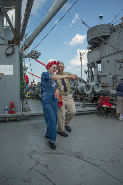 Guests and crew alike are often swept up in the music and enjoy dancing on deck.