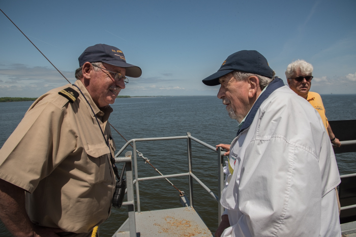 Lloyd graduated from  Kings Point  class of 1946 and was the 2nd mate on board liberty ships. He came up to the Flying Bridge to meet our 2nd mate and the captain.
