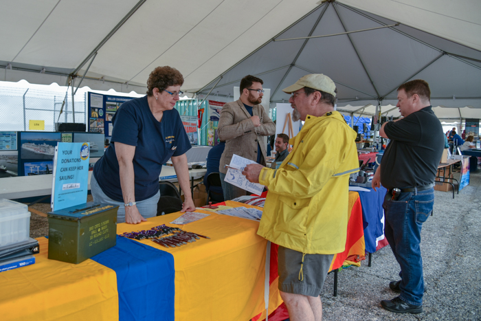Volunteers turned out again this year for the Maritime Day Expo at Pier 13. Two of our members participated in the dedication of the  NS Savannah's #2 lifeboat asan Armed Forces memorial.  You can see pictures of Mike Schneider and Liam Bauman in this ceremony and more  here .