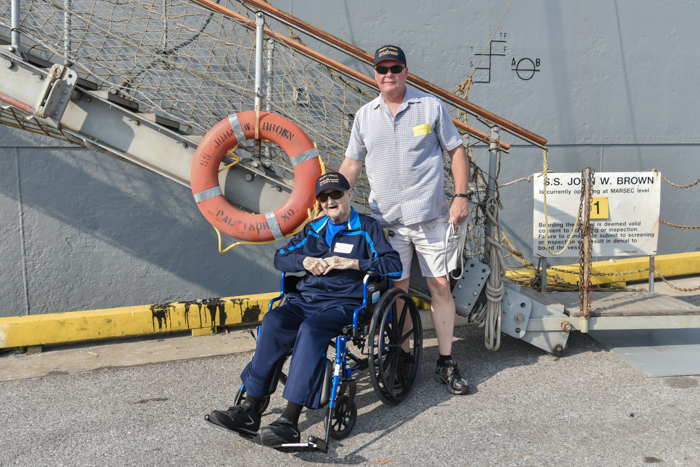 The day started with Richard and his nephew David arriving at the Maryland Cruise terminal to board the ship for the day.