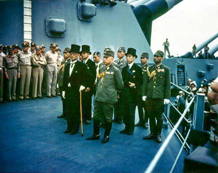 Japenese Delegation On Deck-Missouri