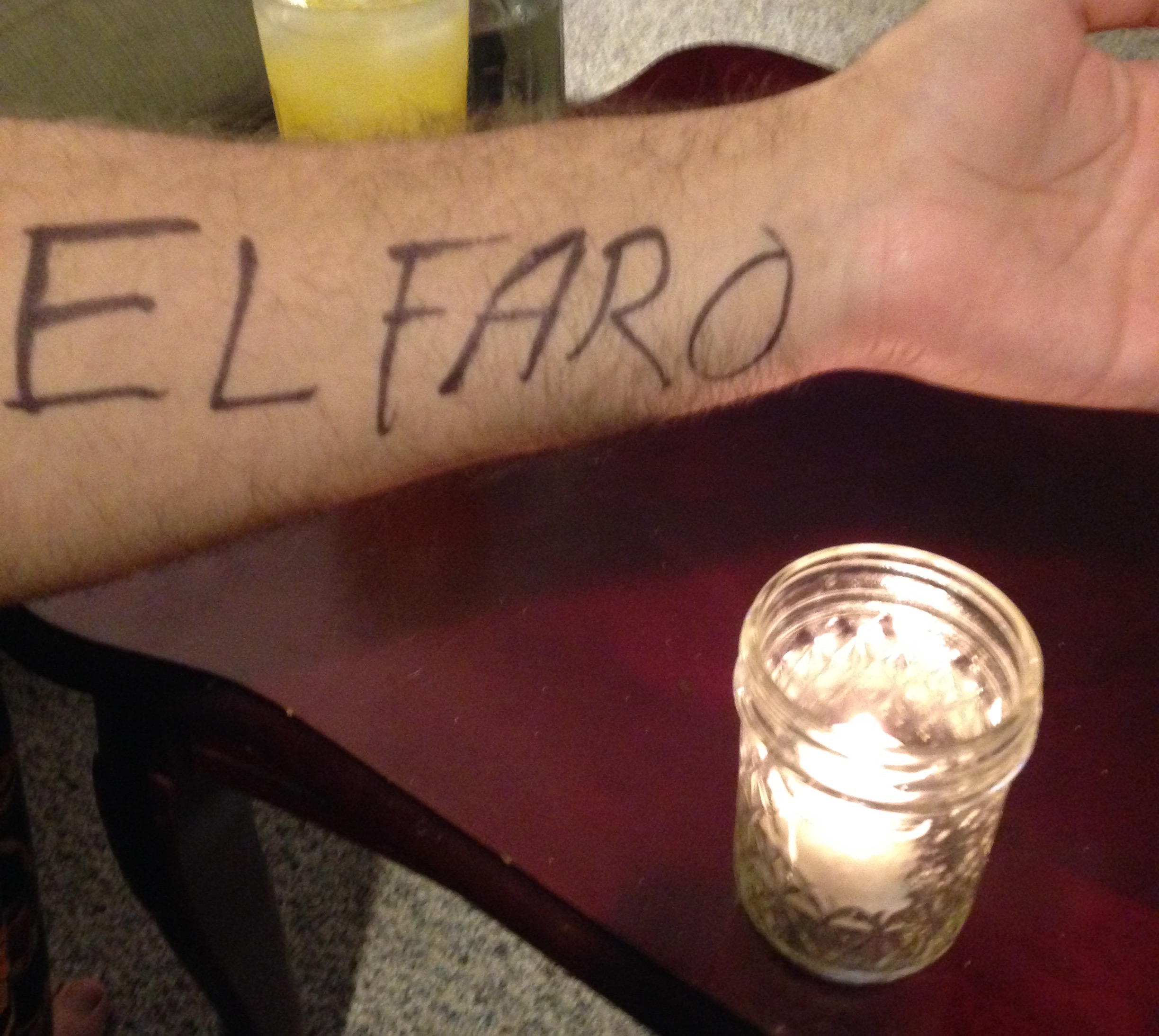 Myself joining the candelight vigil for the MV El Faro