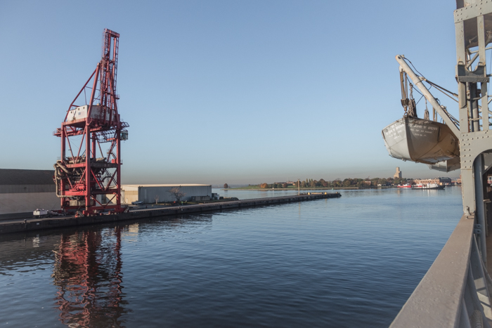 This is the berth right across from where we berth. That crane may not look very big in this picture but it's really huge.