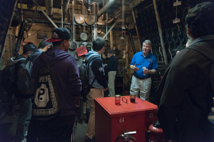 The Engine Room Crew worked tirelessly giving tours throughout each day.