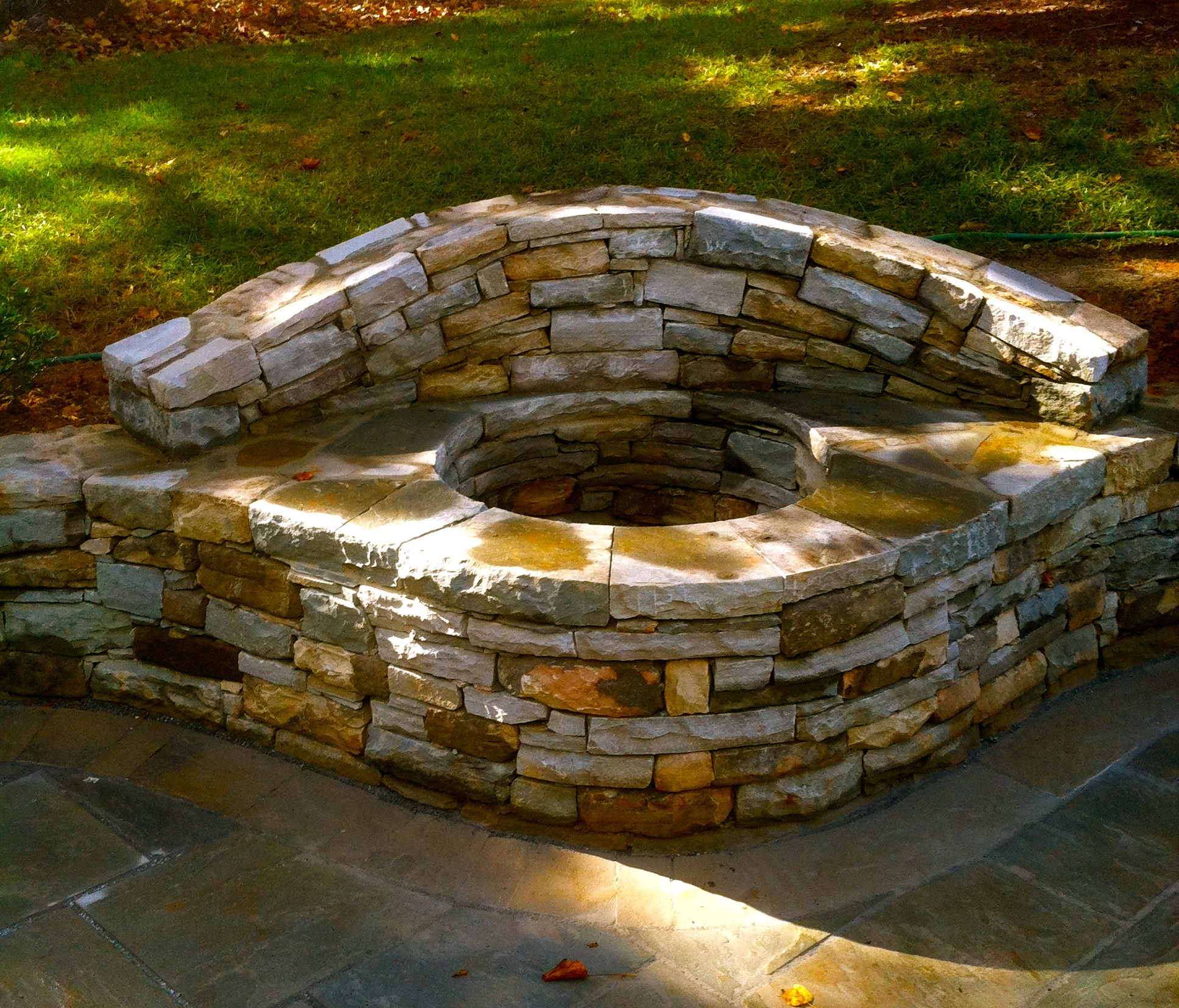 Mostly dry laid firepit