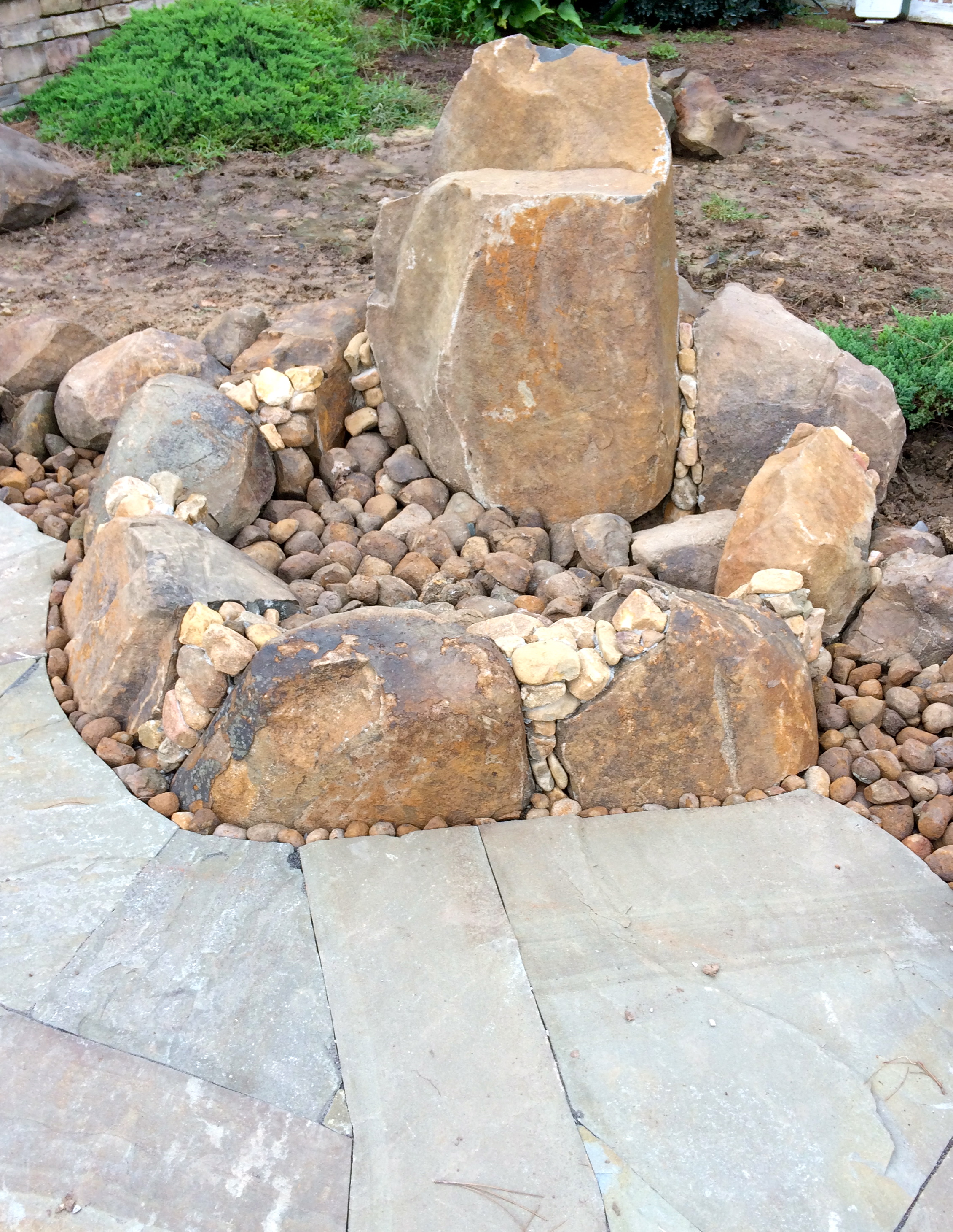 Local boulder firepit