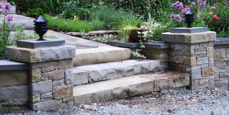 Tennessee ashlar and slab steps