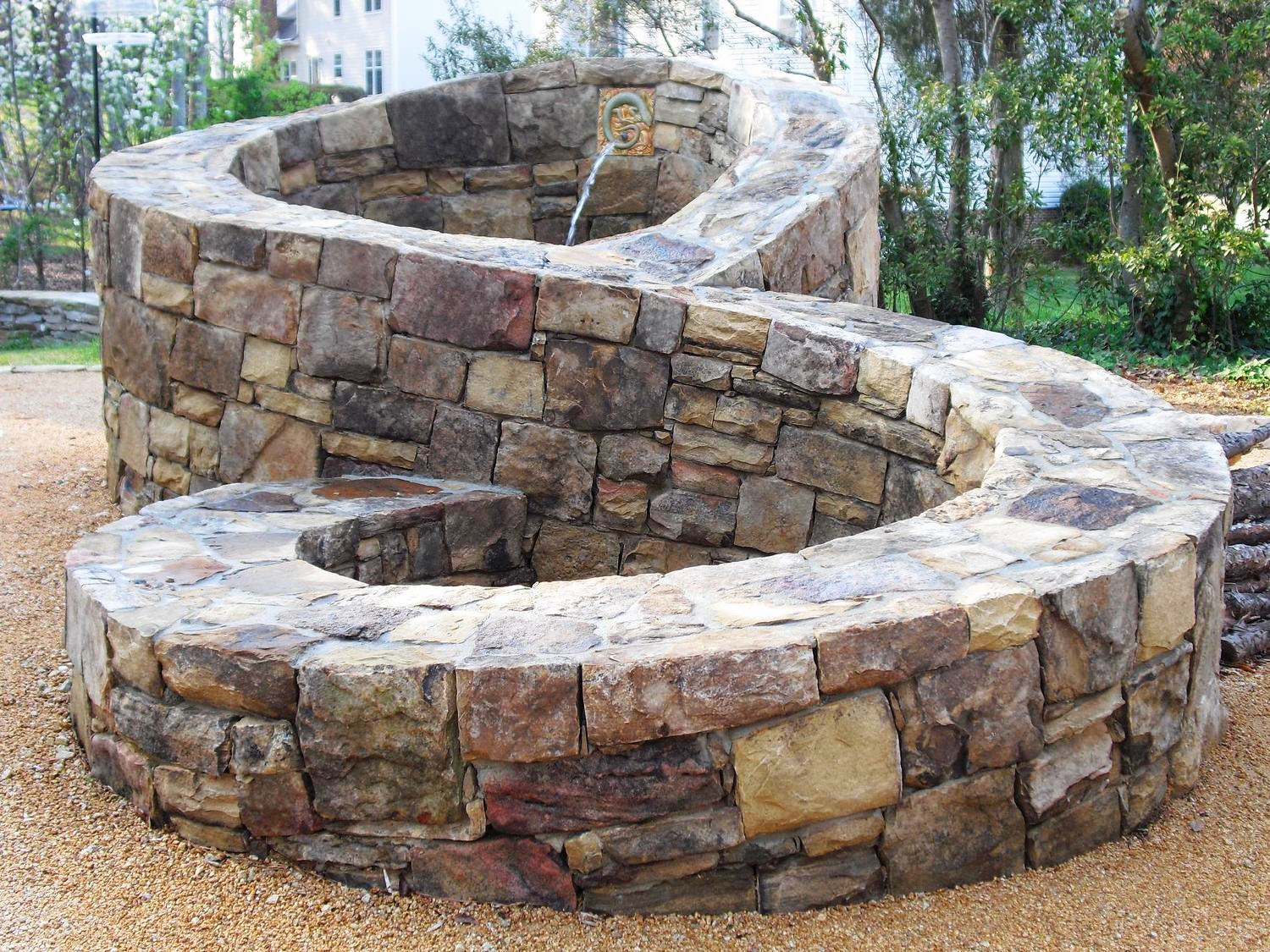 Figure 8 water feature and firepit
