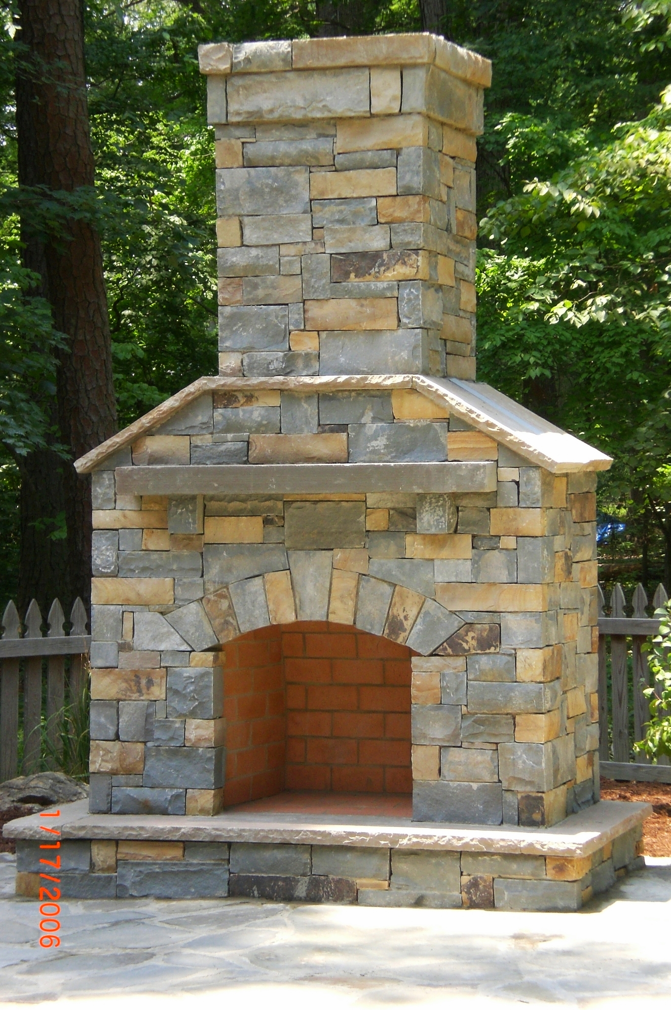 Building stone fireplace- my first ever!