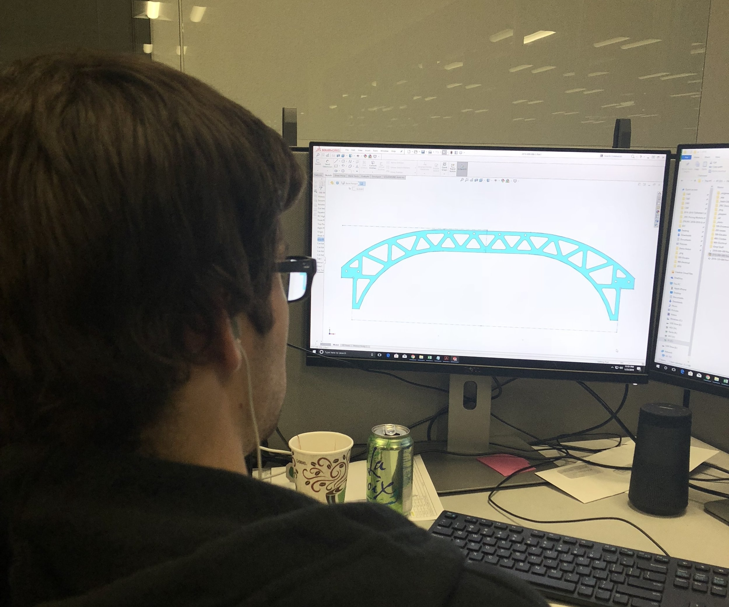 Bryan appears to be designing some sort of bridge on Robowrangler time. Get back to work,Bryan.