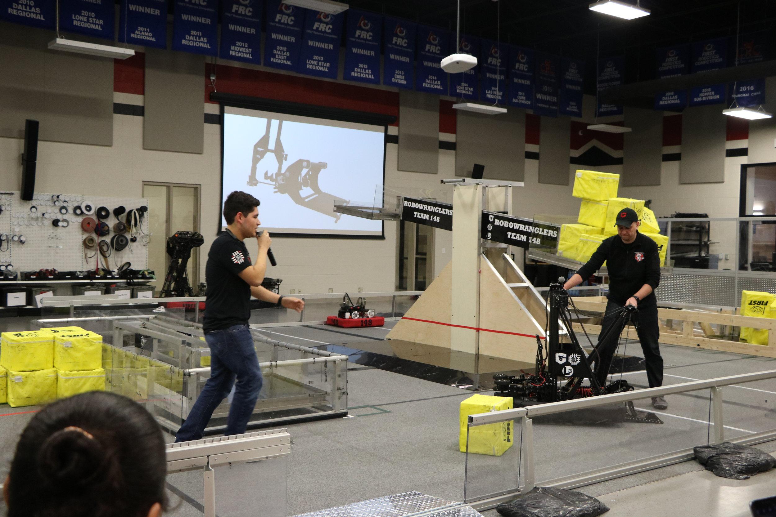 Carlos explains the Robot-Wrangler