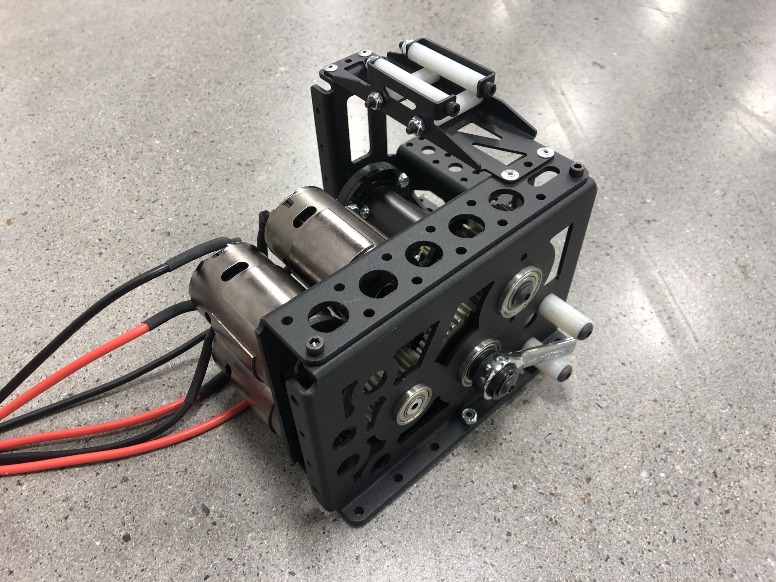 The climber gearbox has not changed since it was built... like, at all. Zero changes. We salute you climber gearbox sub-team.