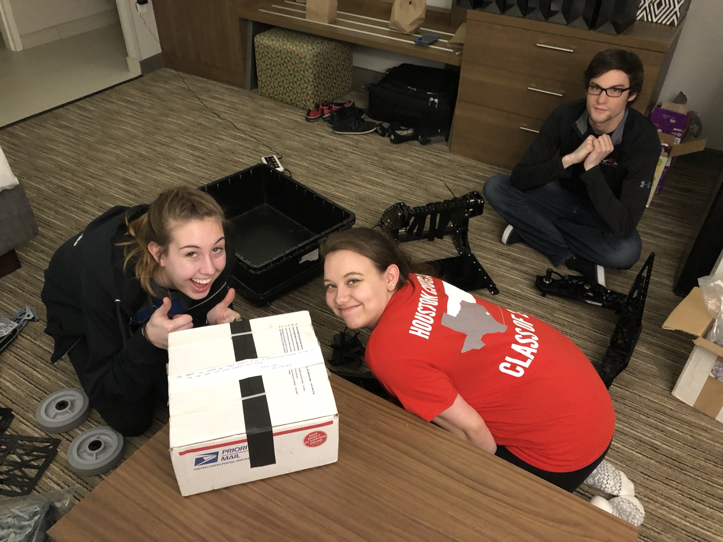Unboxing pics with Jess and Madison.