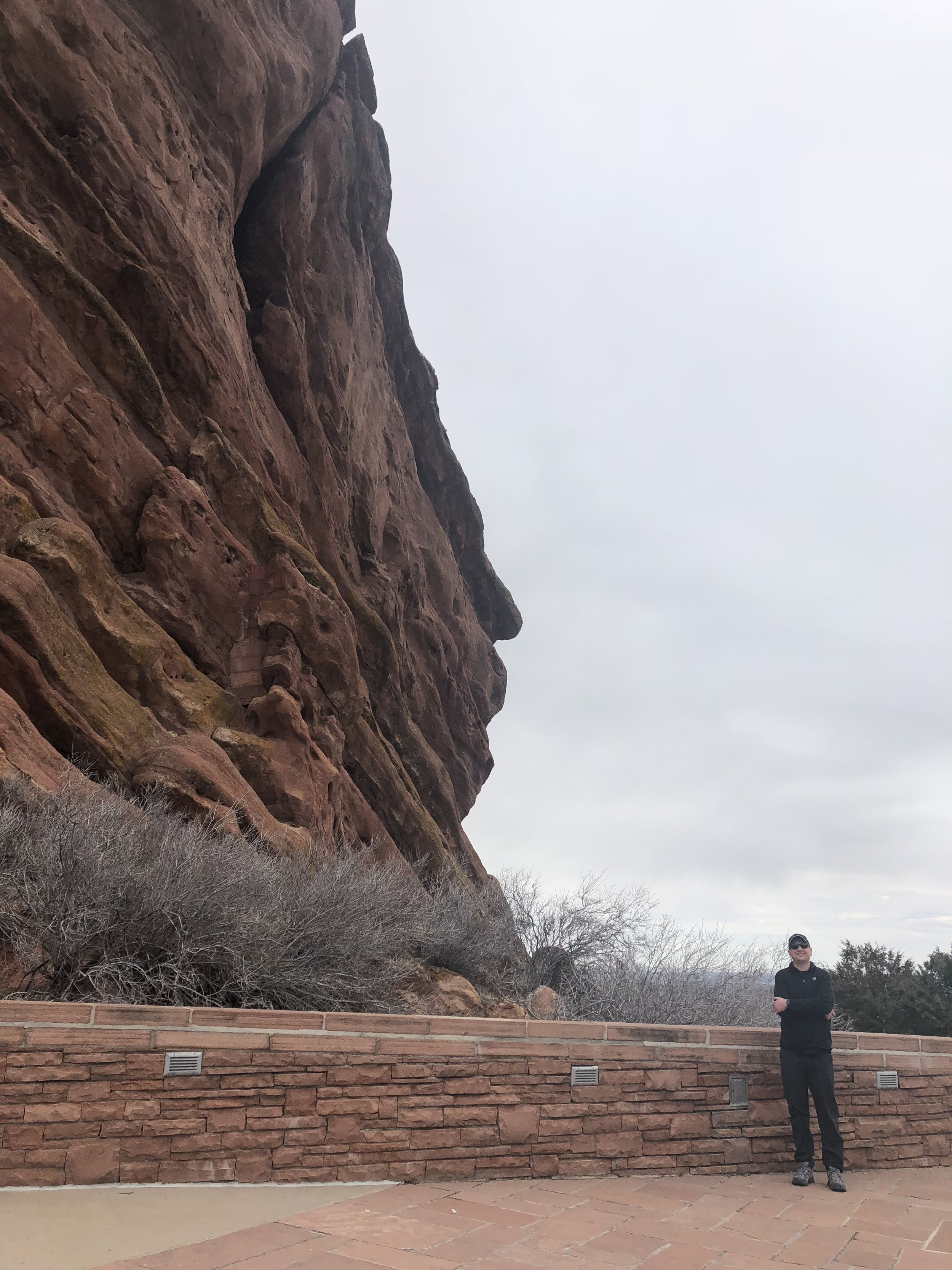 Parker took a great picture at Red Rocks.  JVN for scale.