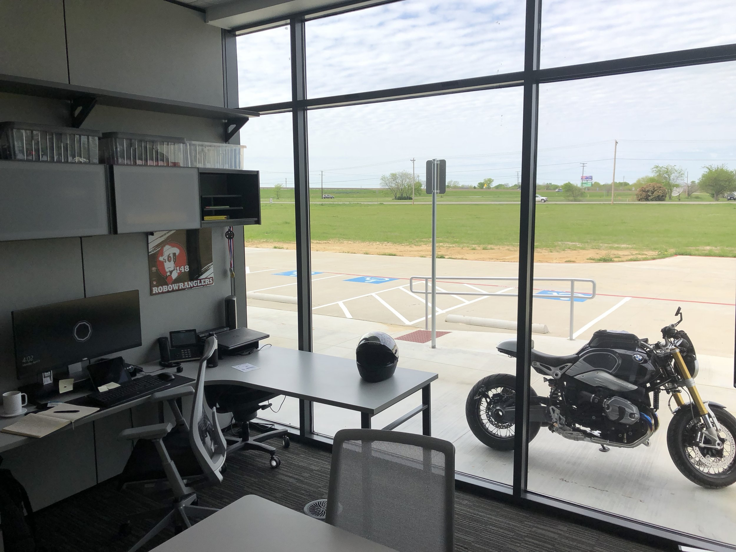 "It will be nice to get back to ""real life"" in a few weeks (after  #VEXworlds )... The motorcycle is mad at me since I've only ridden it three times in 2018.  Spring in Texas lasts like 3 days, so I'm worried when we get back from Houston it will be 200-degrees outside and riding season will be over...  I'm also kind of hoping my friends will forgive me for being ""away"" at robots for four straight months."