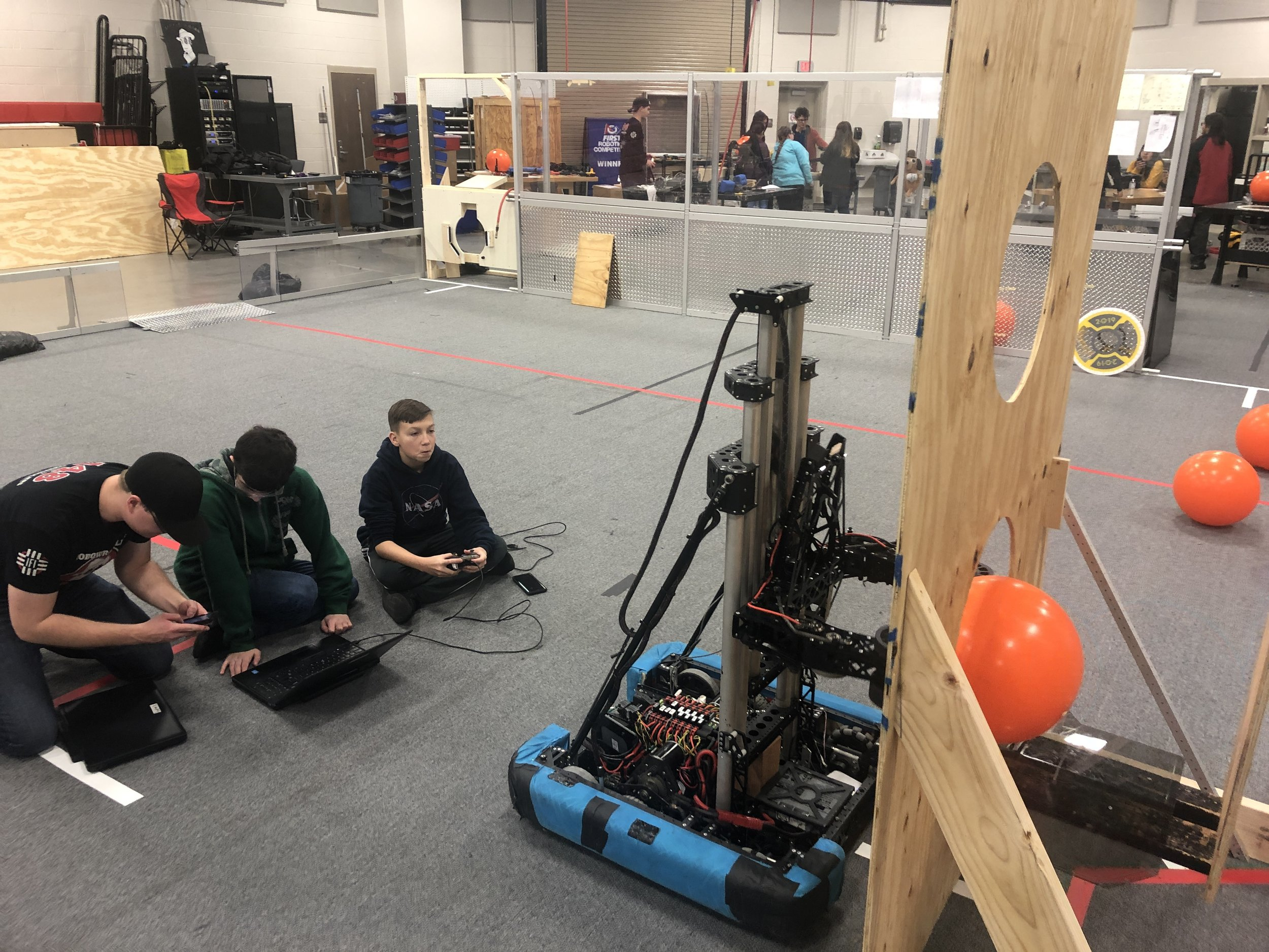 """It turns out Uppercut can """"hook"""" the balls pretty well to the right or left once they're scored in the Rocket Goals. Maybe this will be useful for us on the 2019 robot?"""