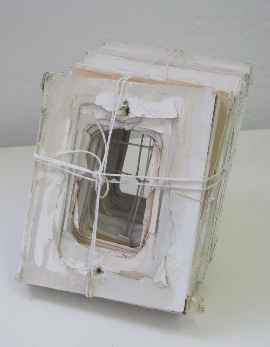 Carol McMahon, Untitled , cardboard, paper, gesso acrylic, $500