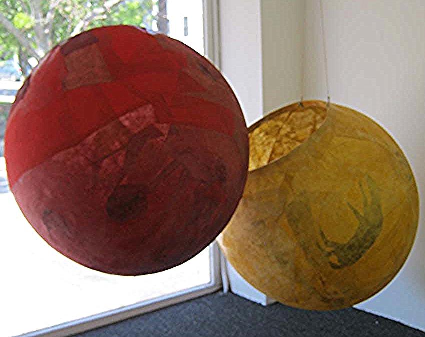 Nancy Diessner,  Different Kind: Pod 3,  (yellow) Intaglio & litho prints onVietnamese Paper, $800